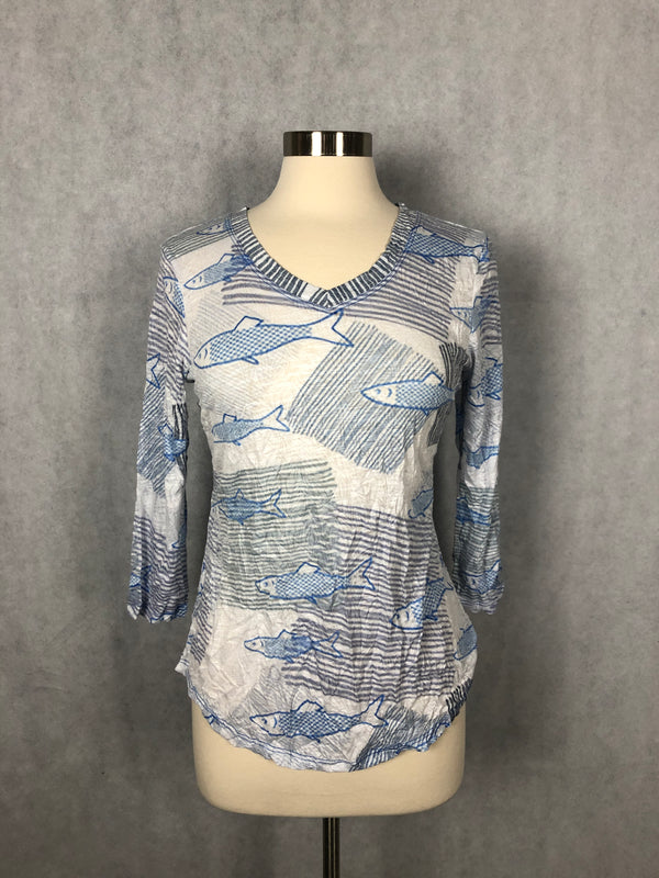BLUE FISH VNECK TOP