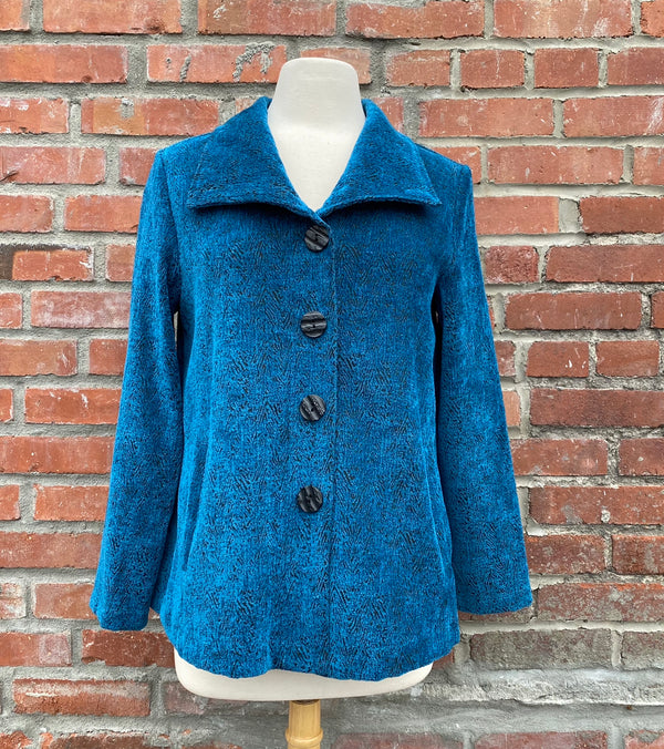 CHENILLE SWING COAT