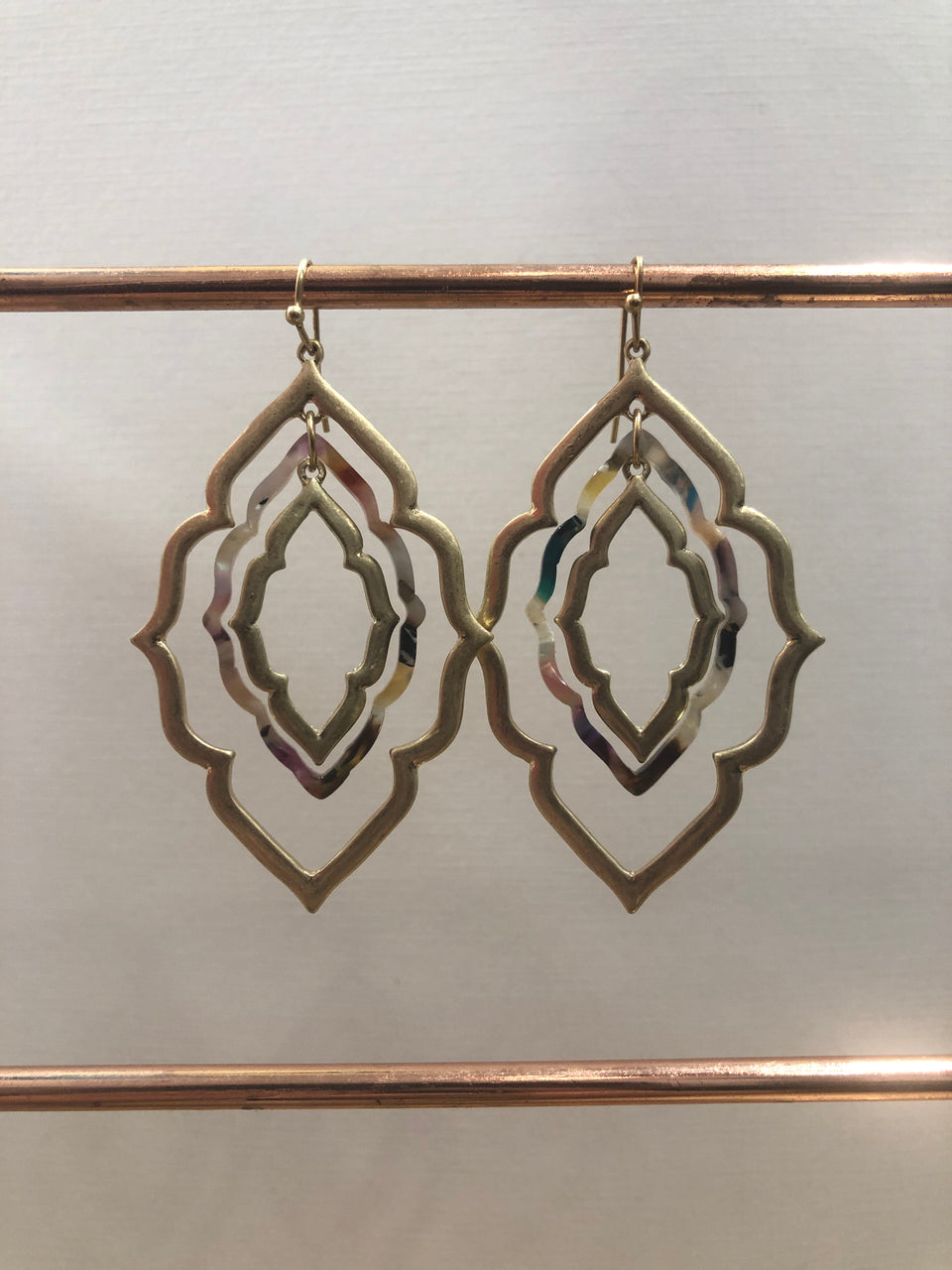 MORROCAN MULTI COLOR MOSAIC EARRING