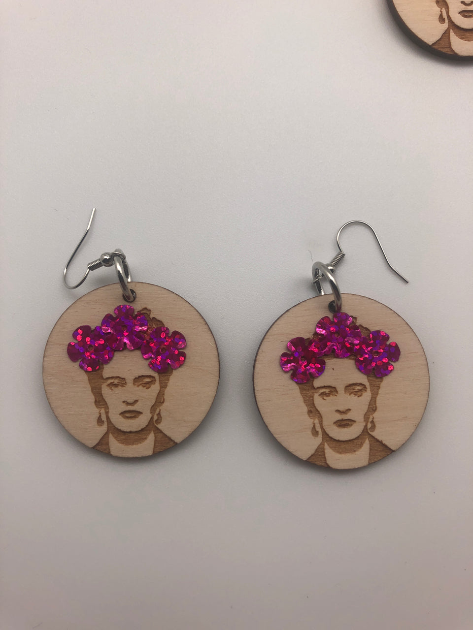 WOOD FRIDA EARRINGS