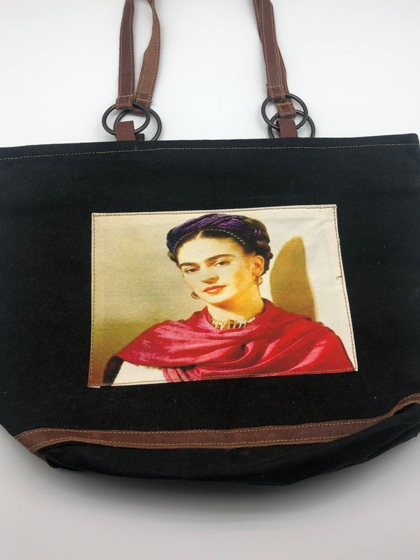FRIDA FEST ZIP TWO HANDLE PURSE
