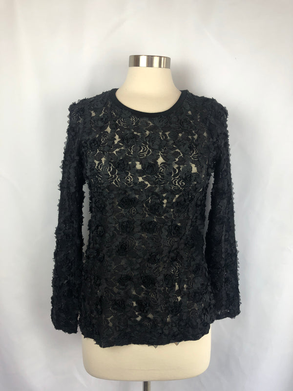 3D LACE RIBBON TOP