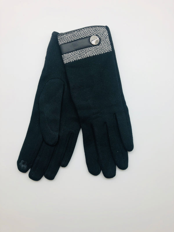 HERRINGBONE CUFF GLOVES