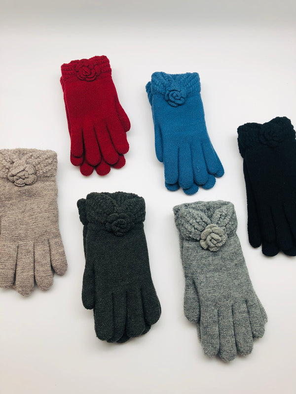 FLOWER KNIT GLOVES