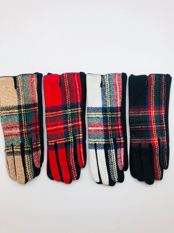 TARTAN PLAID SMART GLOVES