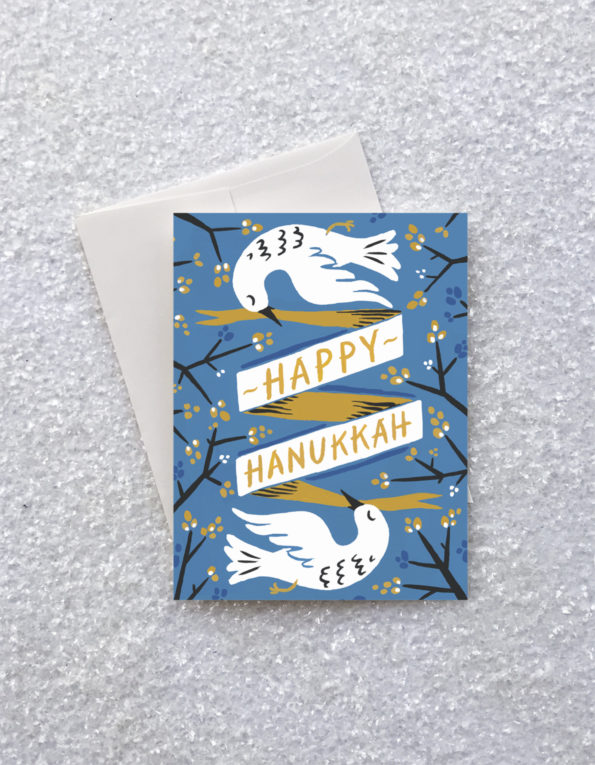 HANUKKAH DOVES CARD