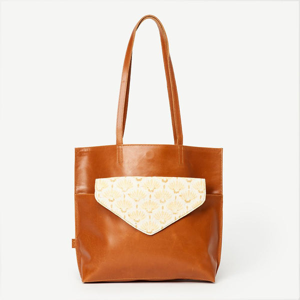 KAMALA LEATHER CLUTCH TOTE