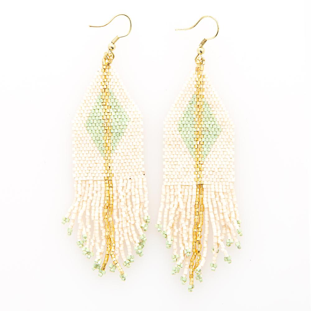 LUXE DIAMOND GOLD STRIPE FRINGE EARRINGS