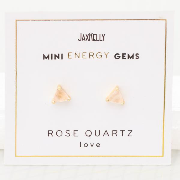 MINI ENERGY GEM STUD EARRINGS
