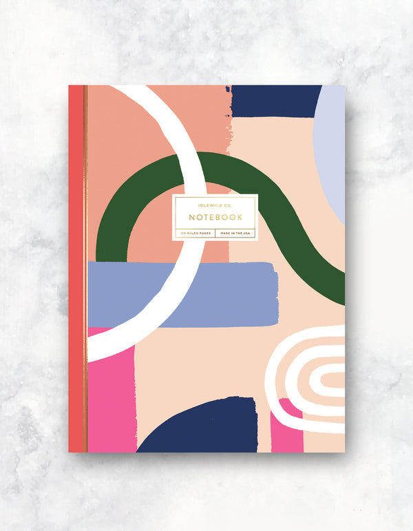 COLOR BLOCK 120 PAGE NOTEBOOK