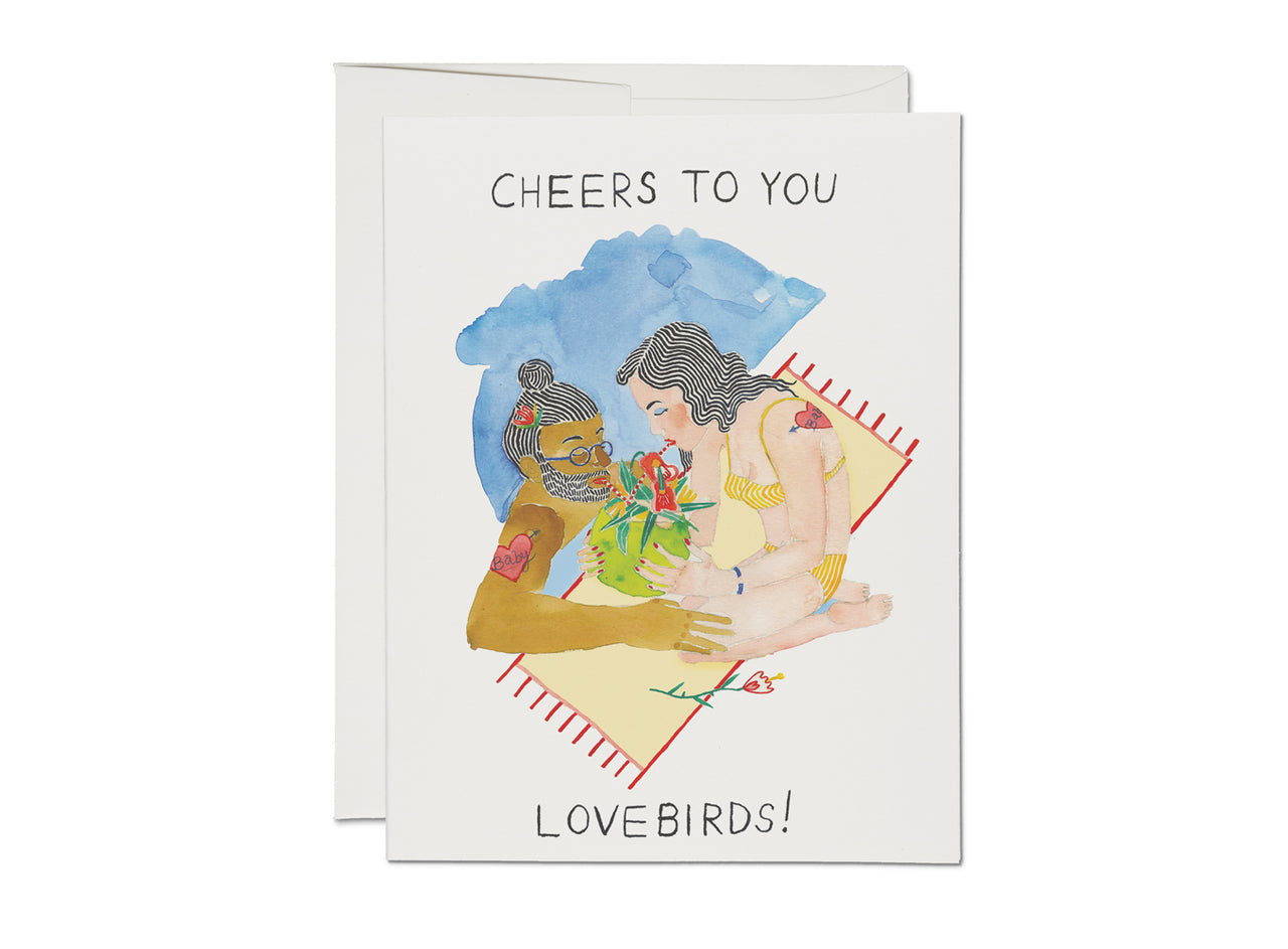 WEDDING LOVEBIRDS CARD