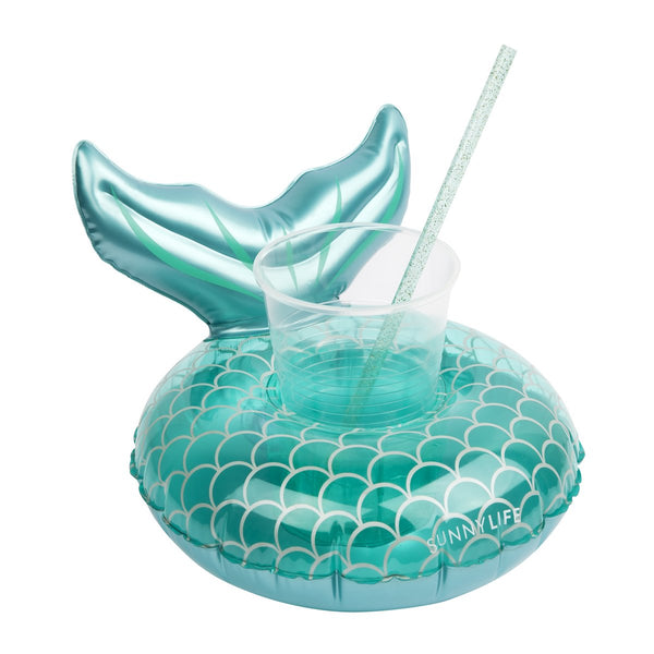 INFLATABLE DRINK HOLDER MERMAID