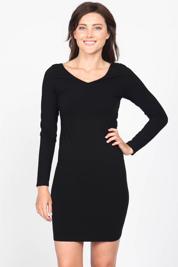 SEAMLESS LONG SLEEVE DRESS