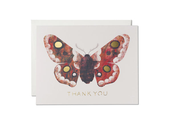 MOTH FOIL THANK YOU CARD