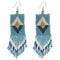 SQUARE DIAMOND FRINGE EARRINGS