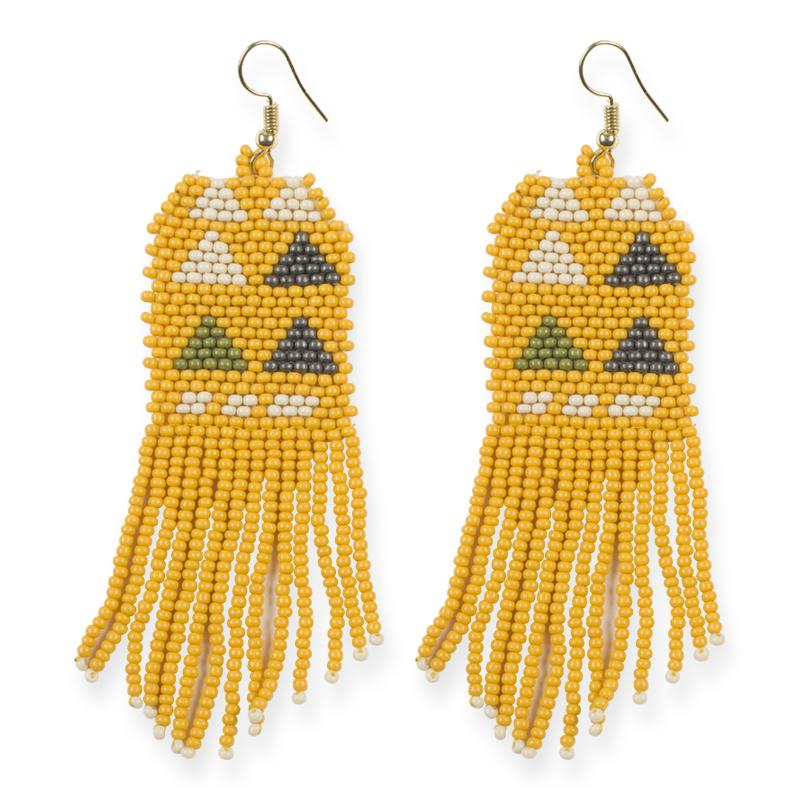 TRIANGLE PATTERNED SEED EARRINGS