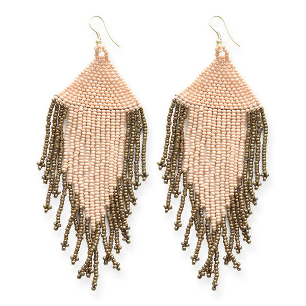 TWO TONED FRINGE EARRINGS