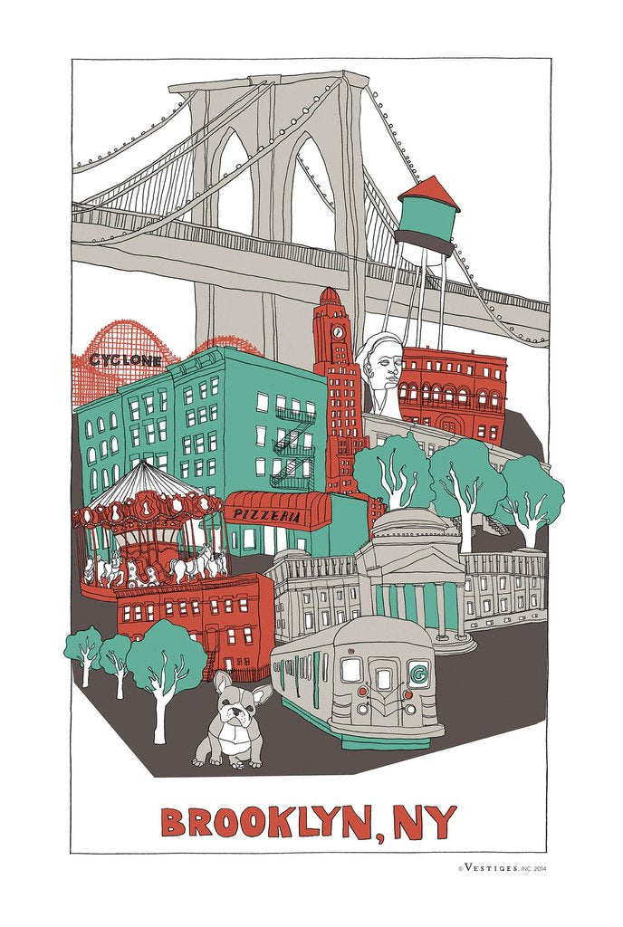 BROOKLYN COLLAGE TOWEL