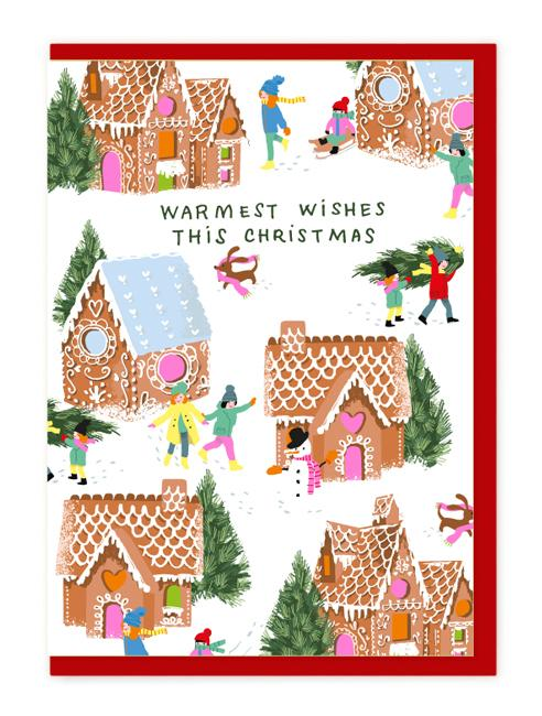 CHARITY BAG CHRISTMAS GINGERBREAD HOUSE CARDS