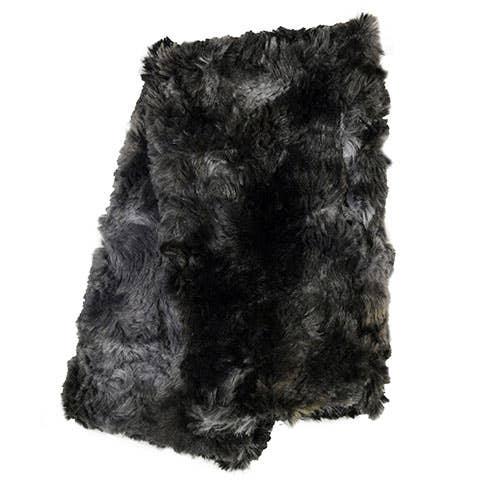 FAUX FUR REVERSIBLE FINGERLESS GLOVES