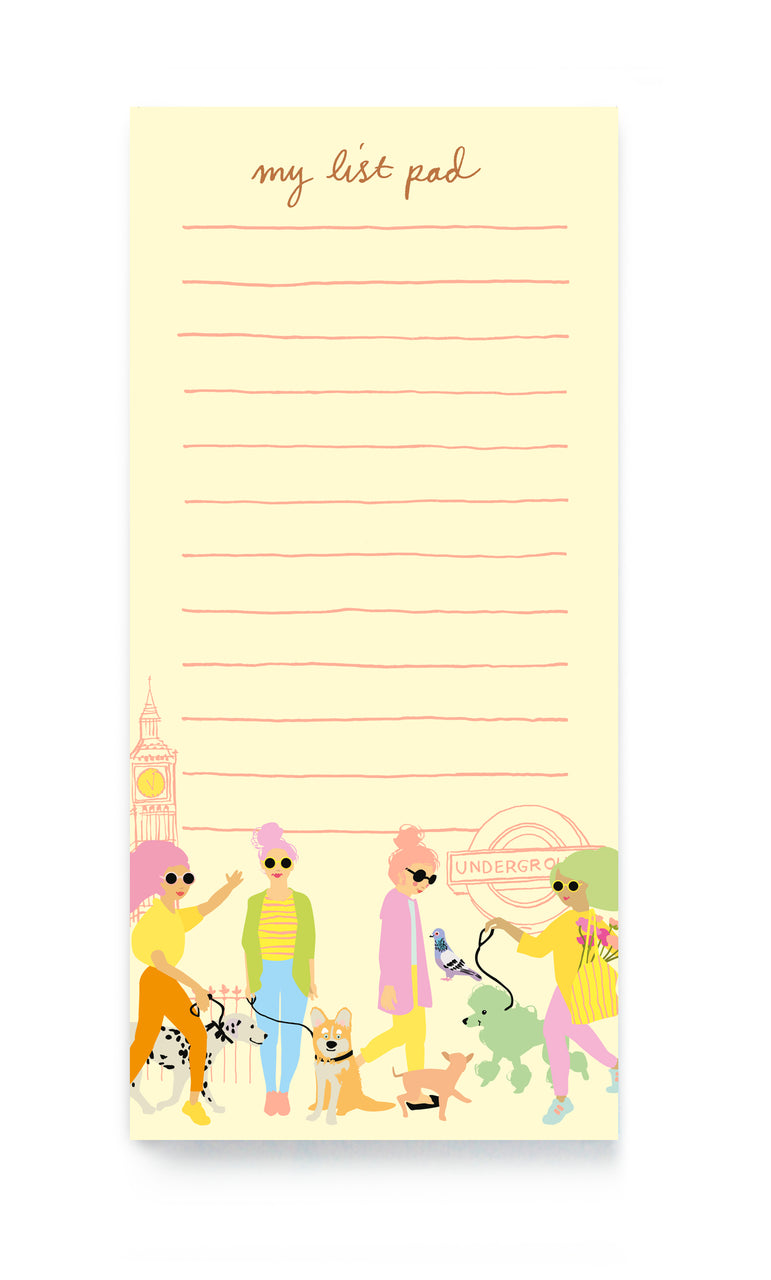 DOG WALKERS NOTEPAD