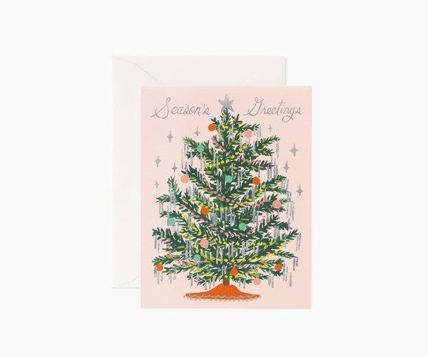 TINSEL TREE CARD