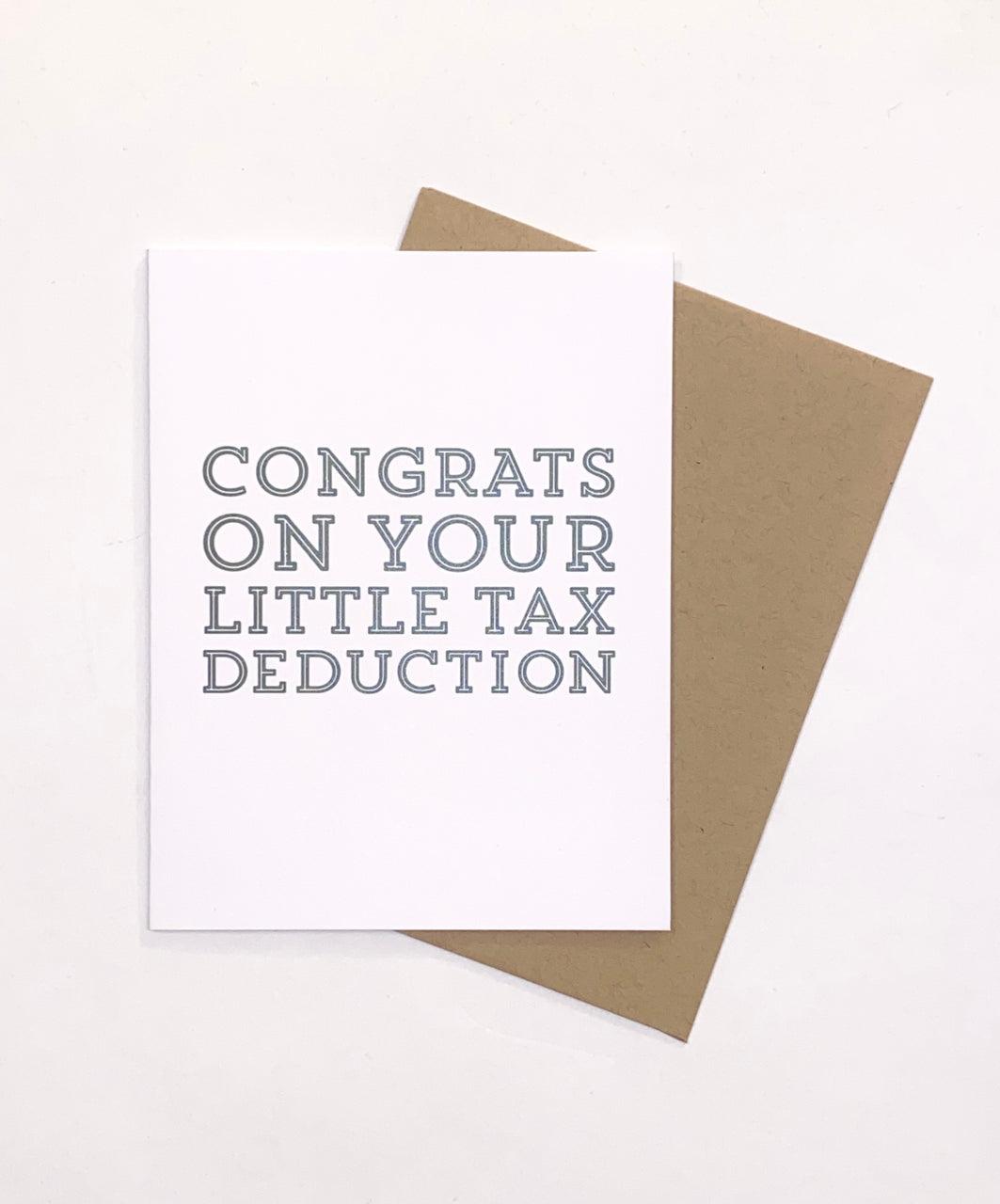 CONGRATS ON YOUR TAX DEDUCTION CARD