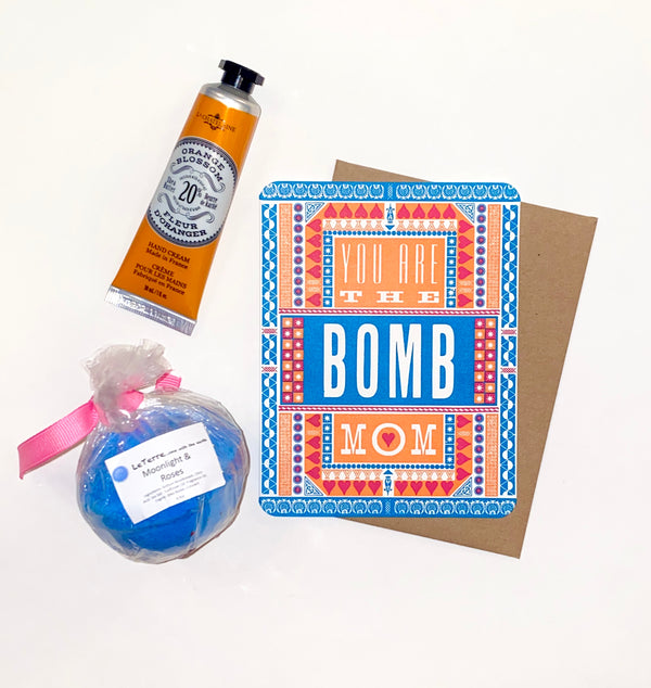 YOU ARE THE BOMB MOM GIFT SET-$20