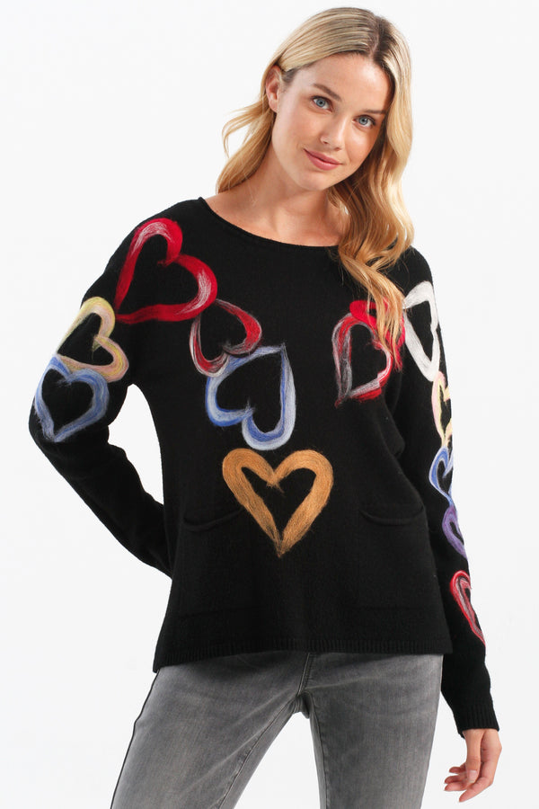 SPREAD LOVE INTO THE WORLD SWEATER