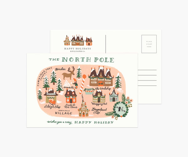 PACK OF 10 NORTH POLE POSTCARDS