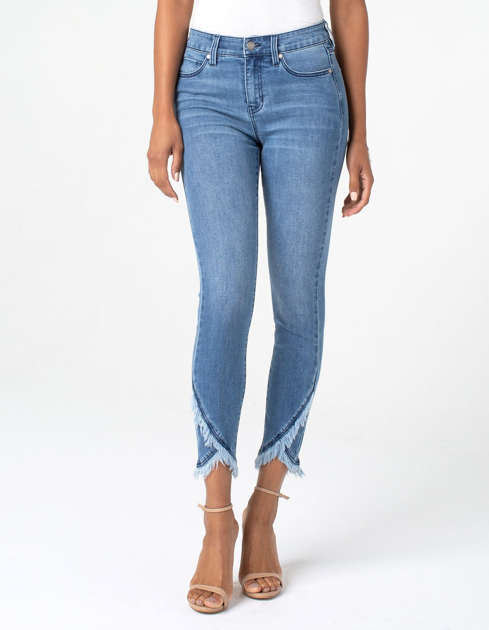 ABBY CROP SKINNY FRONT SCALLOP JEAN