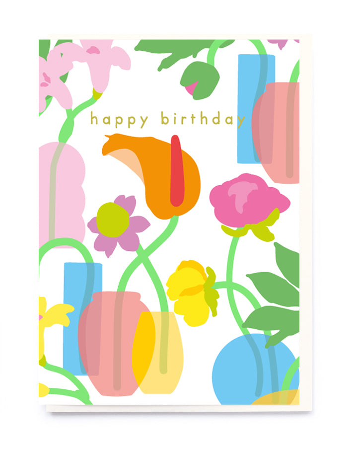 FLOWERS AND VASES CARD