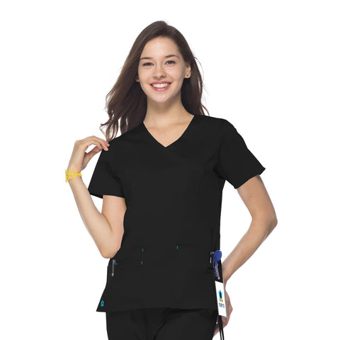 Maevn Mock Wrap Top - 1102 - Mary Avenue Scrubs  - 1