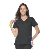 Maevn Mock Wrap Top - 1102 - Mary Avenue Scrubs  - 4
