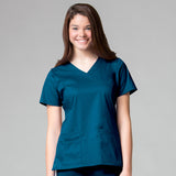 Maevn Mock Wrap Top - 1102 - Mary Avenue Scrubs  - 3
