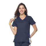 Maevn Mock Wrap Top - 1102 - Mary Avenue Scrubs  - 2