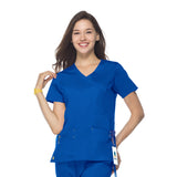 Maevn Mock Wrap Top - 1102 - Mary Avenue Scrubs  - 5