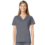 Maevn Three Pocket Fashion V-Neck Top - 1202 - Mary Avenue Scrubs  - 8