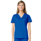 Maevn Three Pocket Fashion V-Neck Top - 1202 - Mary Avenue Scrubs  - 5