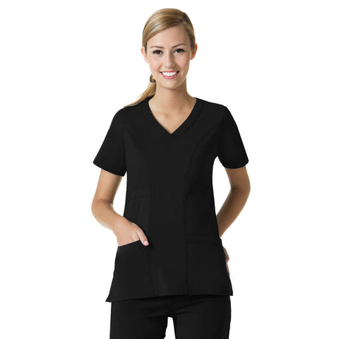 Maevn Curved V-Neck Top - 1214 - Mary Avenue Scrubs  - 3
