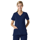 Maevn Curved V-Neck Top - 1214 - Mary Avenue Scrubs  - 2