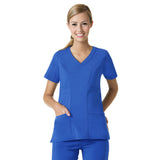 Maevn Curved V-Neck Top - 1214 - Mary Avenue Scrubs  - 1