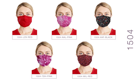 Heart Collection by Healing Hands Assorted Face Masks - 1504