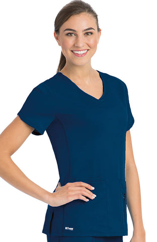 Grey's Anatomy Active Four Pocket Crossover V-Neck Top - 41423