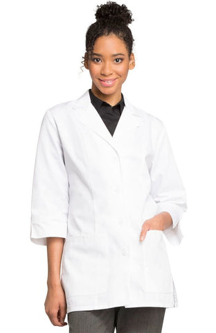 "Professional Whites by Cherokee Women's 3/4 Sleeve 30"" Lab Coat - 1470AB"