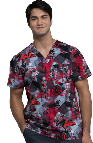 Tooniforms by Cherokee V-Neck Ant Man Print Top - TF675