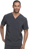 EDS Essentials by Dickies Men's V-Neck Utility Solid Scrub Top - DK645