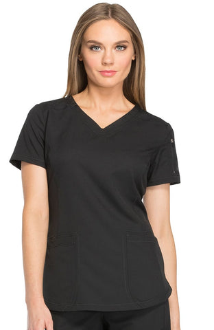 Dynamix by Dickies V-Neck Solid Scrub Top - DK730
