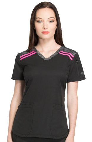 Dynamix by Dickies V-Neck Solid Top - DK740