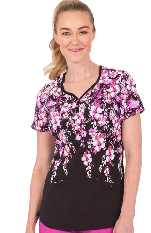 Healing Hands Sweetheart Blossom Isabel Print Top - 2218